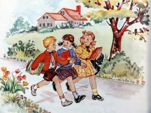 Back to school, circa 1950